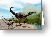 Wondrous Digital Art Greeting Cards - Raptors Greeting Card by Corey Ford