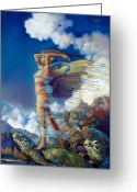 Imaginary Realism Greeting Cards - Rapture and the Ecstasea Greeting Card by Patrick Anthony Pierson