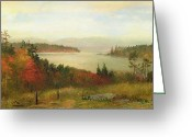 Turning Leaves Greeting Cards - Raquette Lake Greeting Card by Homer Dodge Martin
