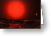Binary Stars Greeting Cards - Rasalgethi Star System Greeting Card by Andrew Taylor