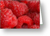 Food Greeting Cards - Raspberries Greeting Card by Mark Platt