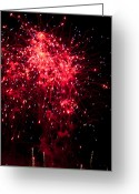 Pyrotechnics Greeting Cards - Raspberry Pop Greeting Card by Paul Mangold