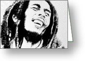 Robbi Musser Greeting Cards - Rasta Man Greeting Card by Robbi  Musser