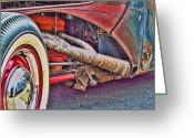 Ron Roberts Photography Greeting Cards Greeting Cards - Rat Exhaust Greeting Card by Ron Roberts