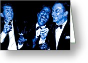Blue Eyes Greeting Cards - Rat Pack at Carnegie Hall Greeting Card by Dean Caminiti