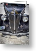 Motorcycle Photo Greeting Cards - Rat Rod Bonneville Salt Flats Greeting Card by Holly Martin