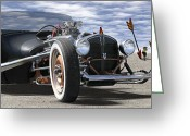 Hot Rod Greeting Cards - Rat Rod On Route 66 2 Greeting Card by Mike McGlothlen