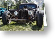 Lowered Greeting Cards - Rat Rod Greeting Card by Peter Chilelli