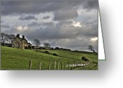 Mayo Greeting Cards - Rathfran House Greeting Card by Marion Galt