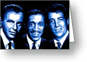 Blue Eyes Greeting Cards - Ratpack Greeting Card by Dean Caminiti