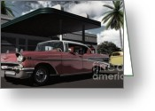 Gas Stations Greeting Cards - Ratsos Garage Greeting Card by Richard Rizzo