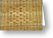Meadow Tapestries - Textiles Greeting Cards - Rattan  Greeting Card by Thakoengphon  Sakkakit