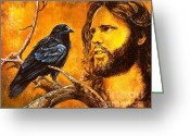 Jim Morrison Greeting Cards - Raven Greeting Card by Igor Postash