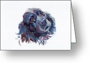 Cocker Spaniel Greeting Cards - Raven Greeting Card by Kimberly Santini