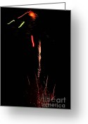 Pyrotechnics Greeting Cards - Ray Greeting Card by Agusti Pardo Rossello
