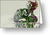 Ray Charles Greeting Cards - Ray Charles Greeting Card by Irina  March