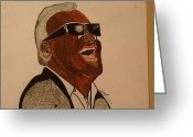 Ray Charles Greeting Cards - Ray Charles Greeting Card by Shawn Brooks