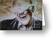 Ray Charles Greeting Cards - Ray Greeting Card by Mariya Hakobyan