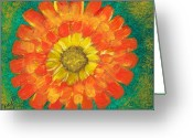 Law Of Attraction Greeting Cards - Ray of Sunlight Marigold Greeting Card by Carey Waters
