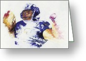 Athletic Painting Greeting Cards - Ray Rice Greeting Card by Ash Hussein