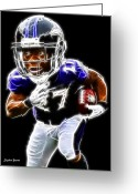 Running Back Greeting Cards - Ray Rice Greeting Card by Stephen Younts