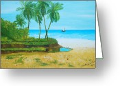 Nicole Jean-louis Greeting Cards - Raymond Les Bains Jacmel Haiti Greeting Card by Nicole Jean-Louis