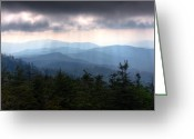 Beautiful Image Greeting Cards - Rays of Light Over the Great Smoky Mountains Greeting Card by Pixel Perfect by Michael Moore