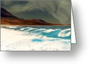 Storm Digital Art Greeting Cards - Razor Greeting Card by Corey Ford
