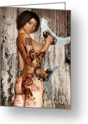 Kinky Greeting Cards - Razor Sharp Greeting Card by Alexander Butler