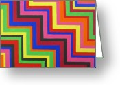 Chic Painting Greeting Cards - Razzmatazz Greeting Card by Oliver Johnston