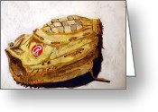 Baseball Mitt Greeting Cards - RBG 36 Dale Murphy  Greeting Card by Jame Hayes