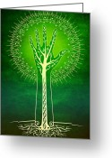 Tree Digital Art Greeting Cards - Reach Greeting Card by Cristina McAllister