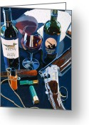Wine  Greeting Cards - Reached the Limit Greeting Card by Christopher Mize