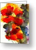 Watercolor Greeting Cards - Reaching Greeting Card by Anne Duke