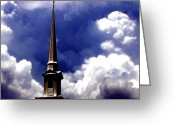 Above The Clouds Greeting Cards - Reaching for the Heavens Greeting Card by Sandy Poore