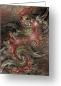 Fractal Art Greeting Cards - Reaching Out Greeting Card by David April