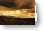Montana Digital Art Greeting Cards - Reaching the Rockies Greeting Card by Jeff Burgess