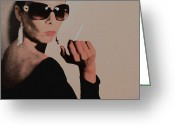Cigarette Greeting Cards - Reaction Greeting Card by Irina  March