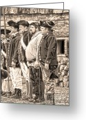 Muskets Greeting Cards - Ready and Able Greeting Card by Diane E Berry