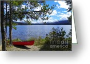 National Mixed Media Greeting Cards - Ready for Action - Fun on the Lake Greeting Card by Photography Moments - Sandi