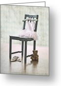Dance Shoes Greeting Cards - Ready For Ballet Lessons Greeting Card by Joana Kruse