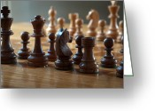 Chess Pieces Greeting Cards - Ready for Battle Greeting Card by Frank Mari