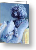 Poodle Greeting Cards - Ready For Her Closeup Greeting Card by Kimberly Santini