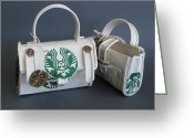 Starbucks Coffee Sculpture Greeting Cards - Ready For Travel Greeting Card by Alfred Ng