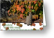 Fall Scenes Greeting Cards - Ready Greeting Card by Larry Bishop
