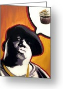 Hip-hop Greeting Cards - Ready To Bake - Notorious B.I.G. Greeting Card by Ryan Jones