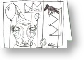Street Art Drawings Greeting Cards - Ready To Go Greeting Card by Robert Wolverton Jr
