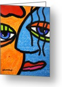Abstract Bright Color Greeting Cards - Ready to Tango Greeting Card by Steven Scott