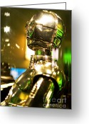 George Lucas Greeting Cards - Real C3P-O Greeting Card by Micah May