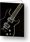 Museum Print Greeting Cards - Real Electric Guitar Greeting Card by M K  Miller